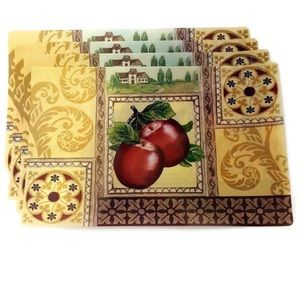 Rustic Apple Placemats 4 - New